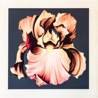 Lowell Nesbitt Iris Hand Signed Numbered Screenprint For Sale