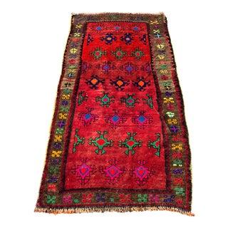 Vintage Turkish Anatolian Rug - 3′ × 6′8″ For Sale