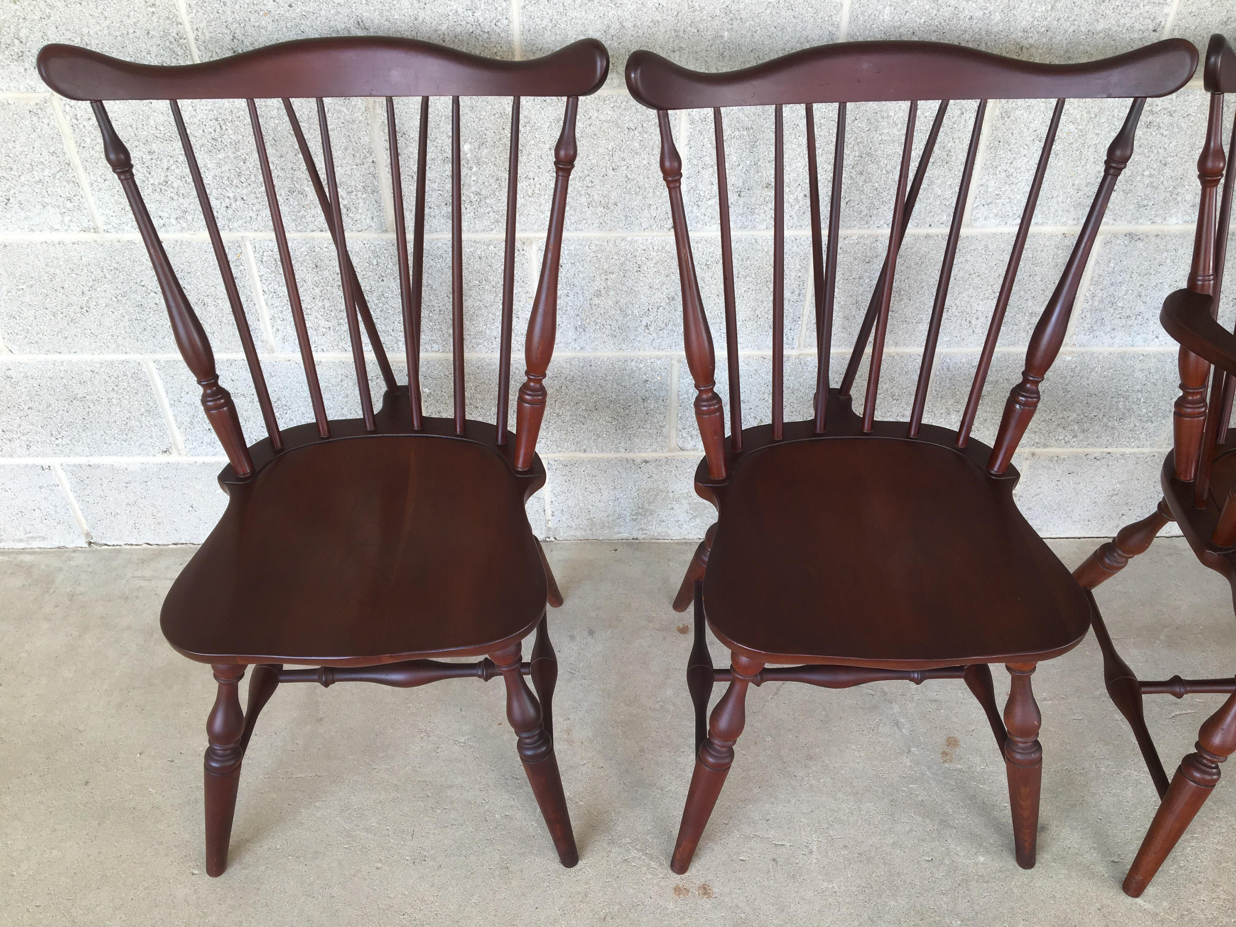 Tell City Cherry Set Of 6 Windsor Brace Back Style Dining Chairs. 4 Side  Chairs