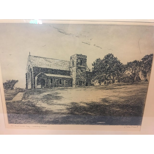 Realism Vintage Canterbury School Chapel Etching by Philip Kappel For Sale - Image 3 of 13