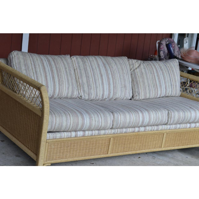 Woven Wicker Rattan Sleeper Sofa By Henry Link Chairish