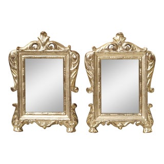 18th Century Silverleaf Mirrors From Italy - a Pair For Sale