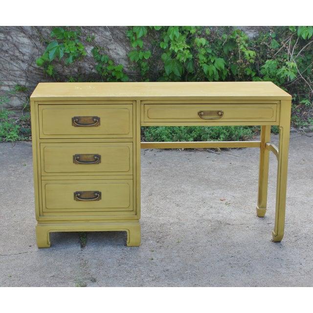 Mid-Century Ming Style Desk Vanity - Image 3 of 11