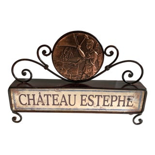 Vintage French Chateau Sign For Sale