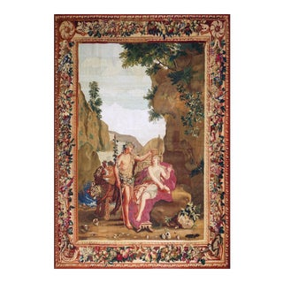 "18th Century Antique Tapestry From Beauvais - ""Bacchus and Ariane"" For Sale"