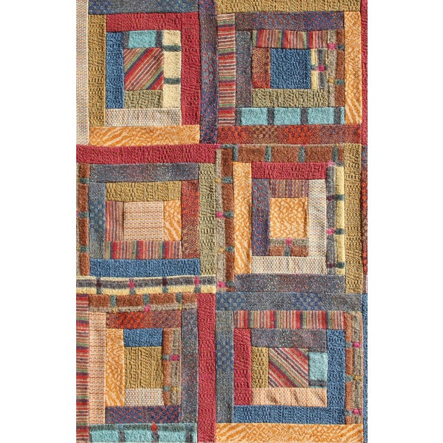 "Italian Missoni ""No. 2 - Squares"" Wool Tapestry For Sale - Image 3 of 4"