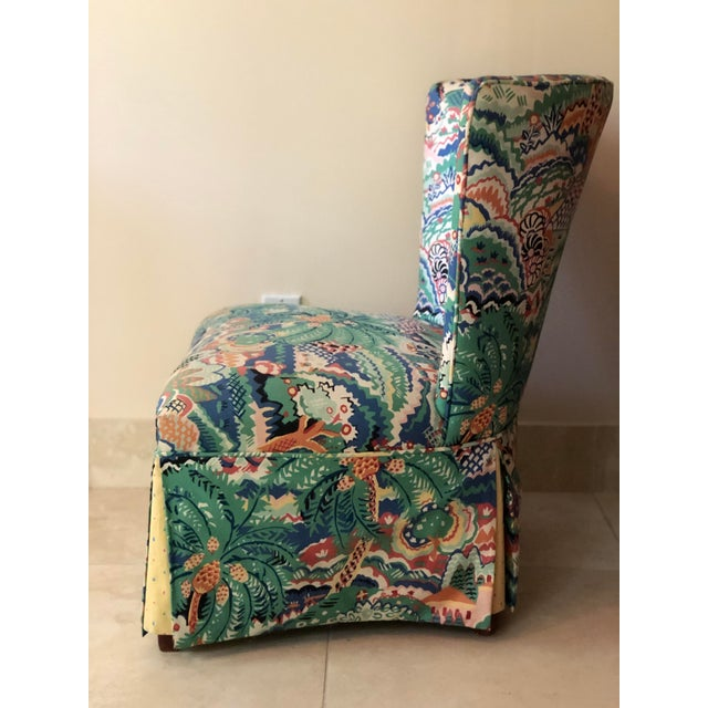 Boho Chic Style Upholstered Vanity Chair For Sale - Image 4 of 13