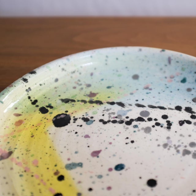 Postmodern Peter Shire Ceramic Plate 1980 Memphis For Sale In San Diego - Image 6 of 8