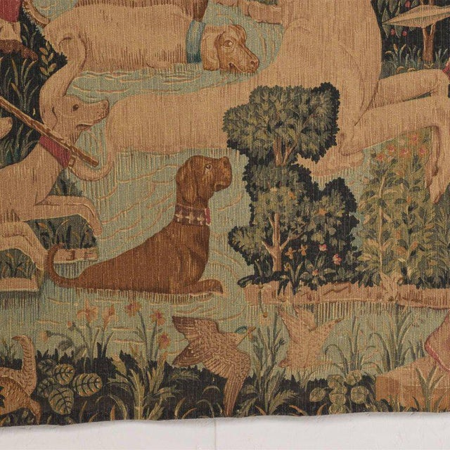 Large Italian Wall Tapestry by Paris Panneaux Gobelins For Sale - Image 11 of 12
