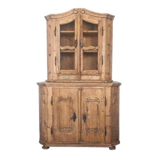 18th Century Hungarian Pine Cupboard/ Hutch For Sale