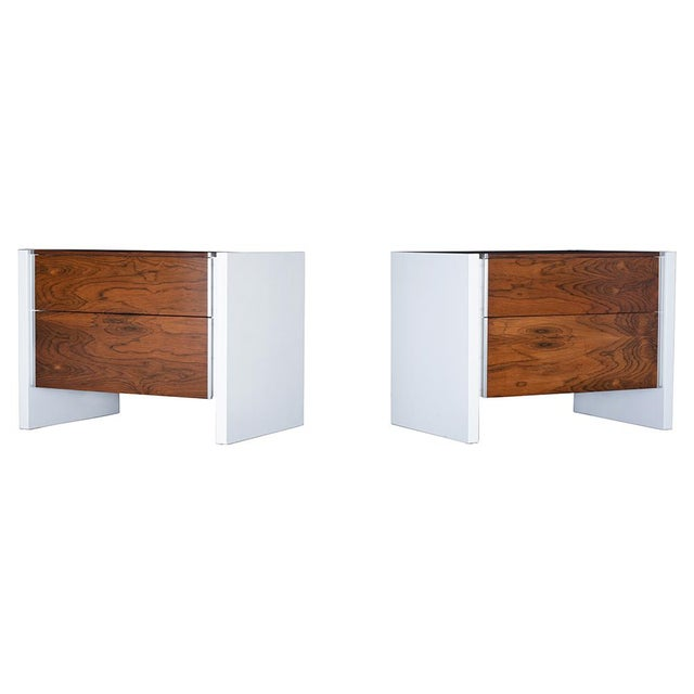 Pair of White Lacquered Glenn California Nightstands For Sale - Image 11 of 11