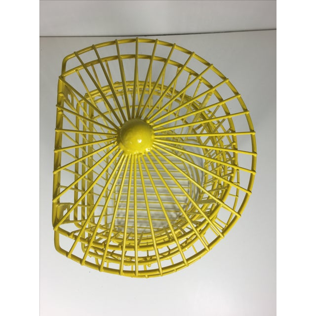 Canary Yellow Chinoiserie Birdcage - Image 7 of 7