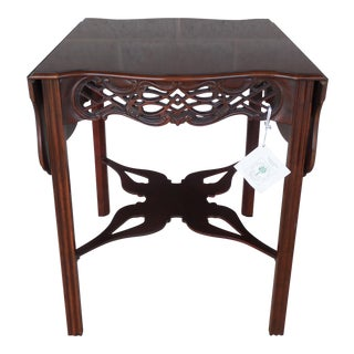 Baker Historic Charleston Collection Chippendale Style Pembroke Accent Table For Sale