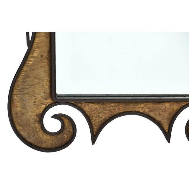 Glass French Art Nouveau Wall Mirror For Sale - Image 7 of 10