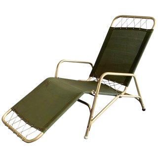 1940's Aluminum Lounge Chair by the Troy Sunshade Company For Sale