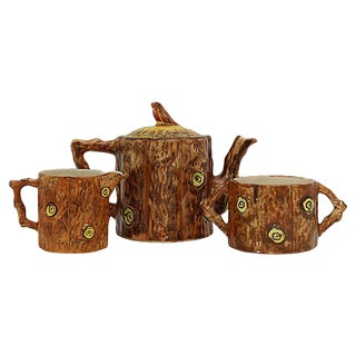 1950s Bird & Tree Trunk Tea Set For Sale
