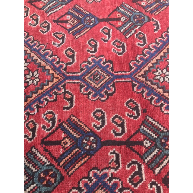 "Vintage Persian Yalameh Area Rug - 7'8"" x 9'7"" - Image 9 of 11"
