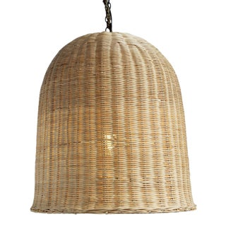 Raw Wicker Dome Lantern Large For Sale