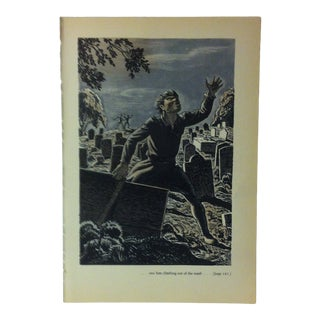 """1949 """"Saw Him Climbing Out of the Tomb"""" the Decameron of Giovanni Buccaccio Illustrated Print For Sale"""