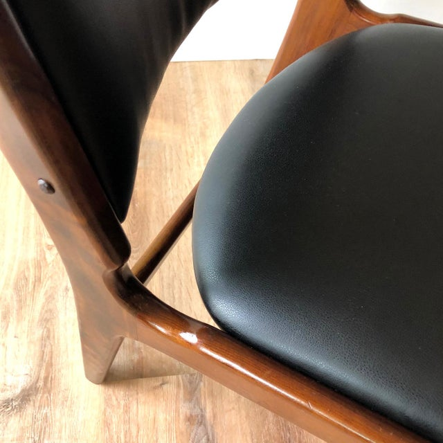 Erik Buch 1960s Vintage Rosewood Dining Chairs by Erik Buch (Model 89) - Set of 4 For Sale - Image 4 of 13