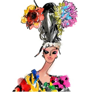 """Marni Headpiece"" Limited Edition Print by Annie Naranian For Sale"