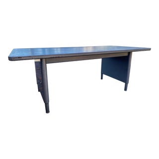 Vintage Steelcase Metal Conference Table For Sale