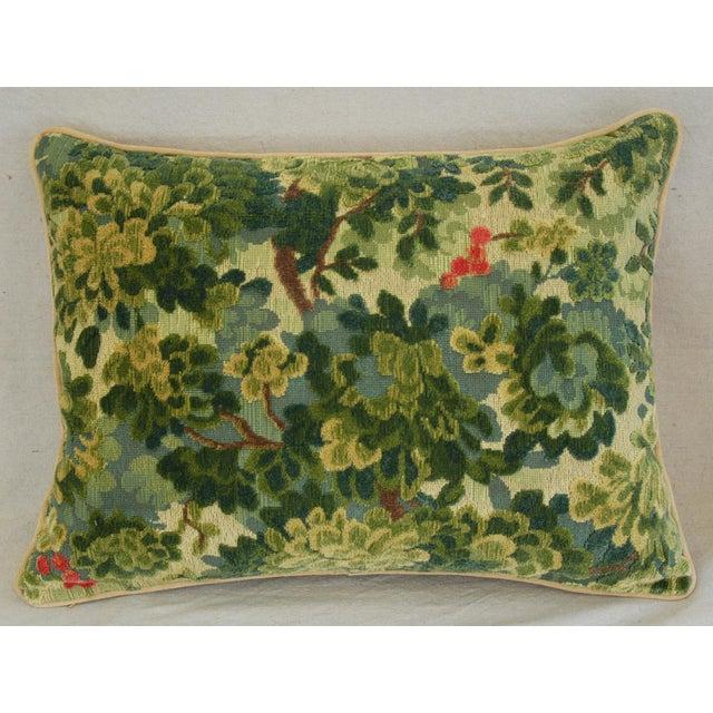 Custom-Tailored Scalamandre Velvet Marly Pillows - Pair - Image 4 of 11