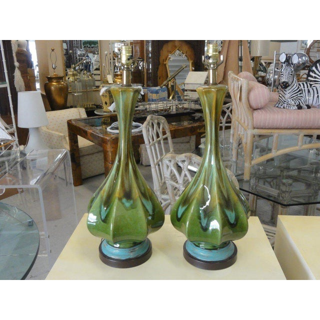 Mid-Century Modern Lamps - A Pair - Image 5 of 6