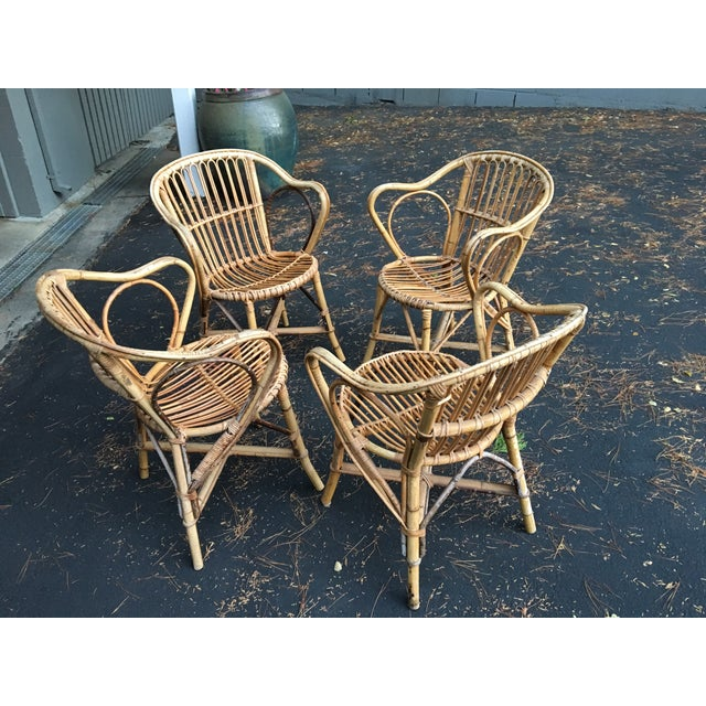 Bamboo Dining Chairs - Set of 4 - Image 9 of 9