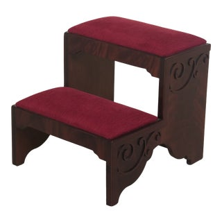 Chippendale Hickory Chair Co Mahogany Bedsteps For Sale