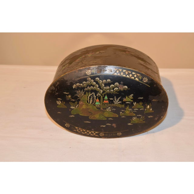 Late 19th C Chinoiserie Tea Tin For Sale In Greensboro - Image 6 of 8