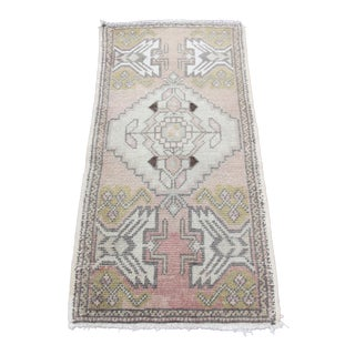 Vintage Turkish Decorative Soft Color Tone Wool Rug-1′8″ × 3′5″