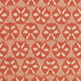 Schumacher Darjeeling Cotton Ikat Fabric For Sale