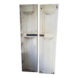 19th Century Early American Shutters-a Pair For Sale