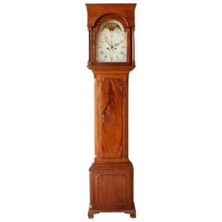 Early 19th Century Philadelphia Tall Case Clock For Sale
