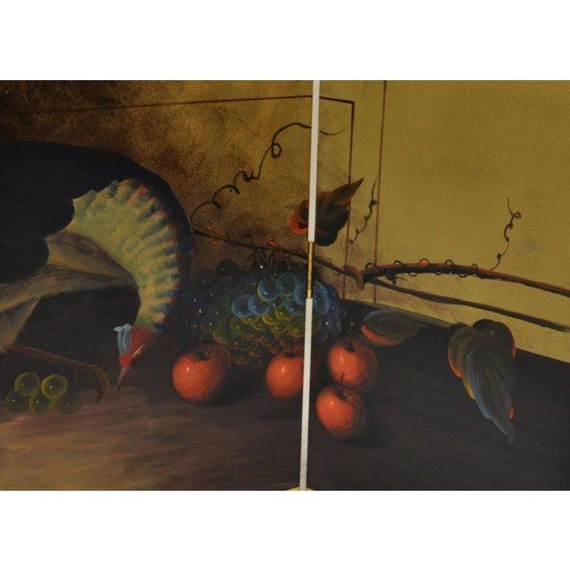 Ornate Landscape Four Panel Screen - Image 2 of 4