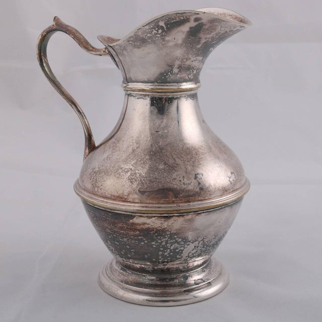 German Sterling Silver Georgian Style Pitcher 9.4 Toz Darmstadt, 19th Century For Sale - Image 11 of 13