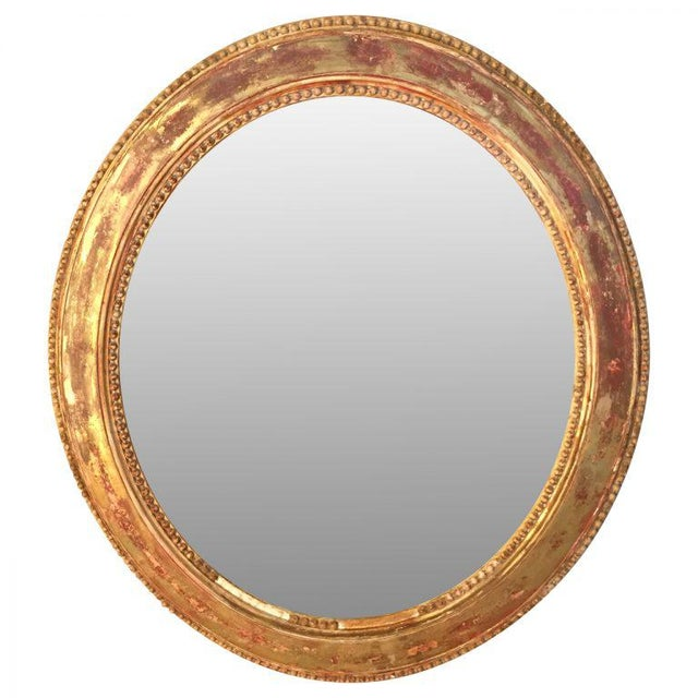 19th C. French Oval Giltwood Mirror - Image 2 of 5