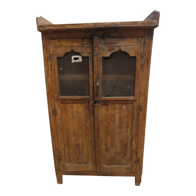 Antique Primitive China Cabinet Cupboard - Image 1 of 8