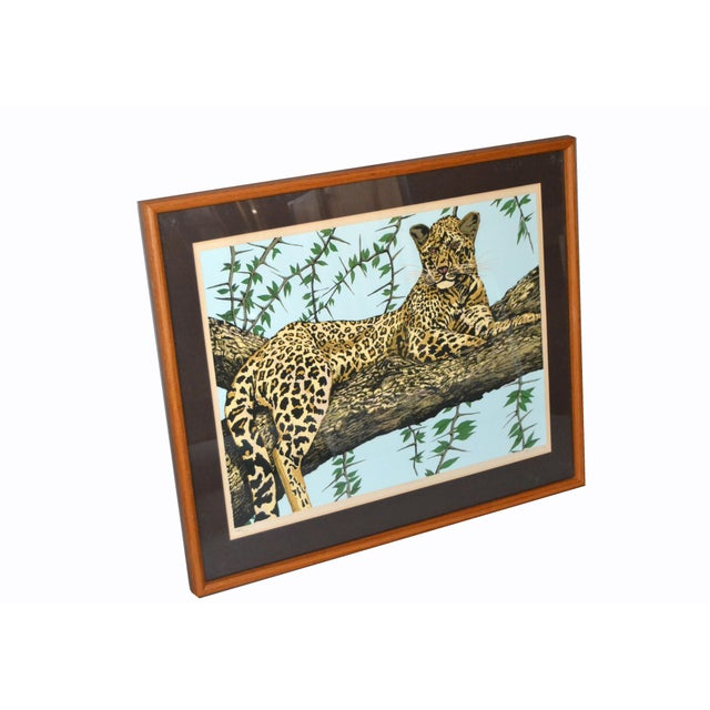 Original Lithograph 'Cheetah' Signed by Artist Mac Couley For Sale In Miami - Image 6 of 13