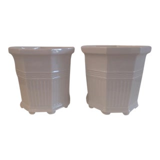Vintage Octagonal Cachepots - a Pair For Sale