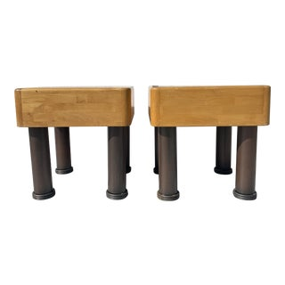 Postmodern Side Tables on the Style of Kelly Weasler For Sale