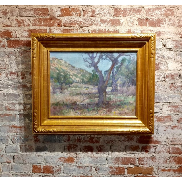 Charles Fries -Oaks & Hills Near Mussey Grade- California Oil Painting For Sale - Image 10 of 10