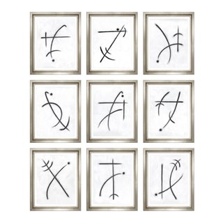 "Trowbridge ""Chirographic Abstracts"" by Charlotte Morgan Set of 9 For Sale"