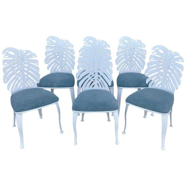 Six 1970s Wrought Iron Palmette Chairs, Restored For Sale - Image 10 of 10
