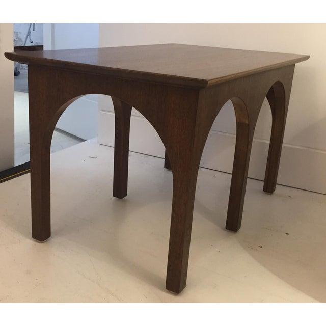Robsjohn Gibbings Walnut Coliseum Side Table For Sale - Image 11 of 11