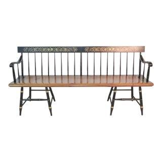 Hitchcock Ebonized & Windsor Style Long Bench