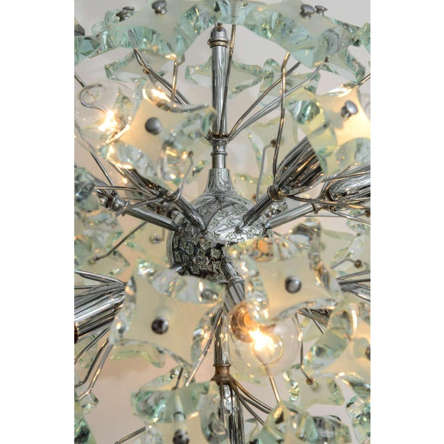 1960s 1960's Italian Green Glass Sputnik Chandelier For Sale - Image 5 of 8
