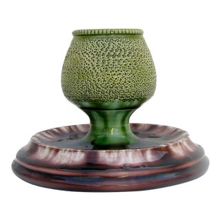 Antique English Art Pottery Match Striker / Ashtray For Sale