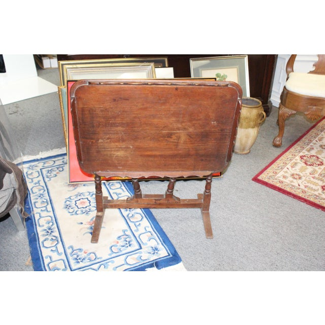 Late 19th Century 19th Century Art Nouveau Folding Tray Table For Sale - Image 5 of 6